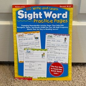 K-2 Right and learn sight words practice book